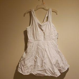 White Dress w/ tulle underneath skirt
